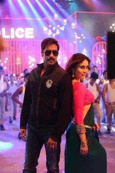 Ajay Devgn and Kareena Kapoor Khan in 'Aata Majhi Satakli' song from Singham Returns. #Style #Bollywood #Fashion #Beauty