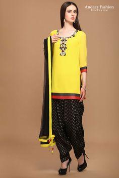 Patiala Salwar Suits, Shalwar Kameez, Kurti, Suits Online Shopping, Designer Punjabi Suits, Salwar Designs, Yellow Fashion, Costume, Festival Wear