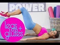 Leg, Glute and inner thigh workout using a Stability Ball | with Natalie Jill - YouTube