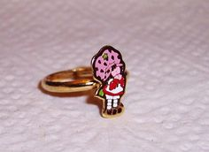 Vintage 1980 Strawberry Shortcake Adjustable Ring