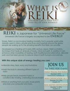 Reiki is here this December at Reach Out Ranch and Promise Ranch.  Join us to discover the World's oldest healing art. Follow the link to find out how you can join us:  http://www.reachouttohorses.com/reiki2.html#classes
