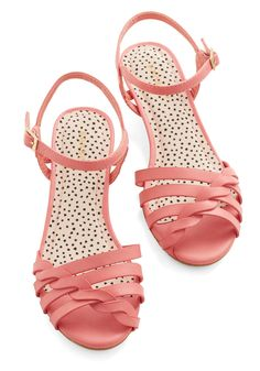 Better Plait than Never Sandal in Pink. When it comes to warm weather kicks, youd rather wear these pink sandals than any other pair! #pink #modcloth