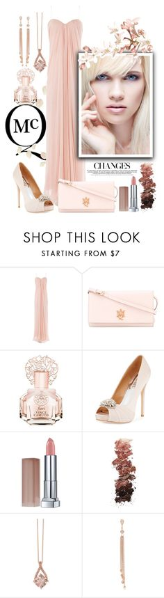 """""""McQueen in Petals Roses"""" by ela79 ❤ liked on Polyvore featuring Alexander McQueen, Vince Camuto, Badgley Mischka, Maybelline, L.A. Girl, Effy Jewelry and Jacquie Aiche"""