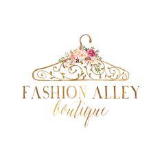 Branding package gold hanger logo watercolor flowers logo logo design for clothing boutique Logo Boutique, Boutique Names, Boutique Design, Blog Logo, Mode Logos, Logo Branding, Branding Design, Branding Ideas, Hanger Logo
