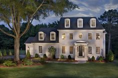 I love this style of home.- traditional - Exterior - Charlotte - True Homes USA Style At Home, Houses In Charlotte Nc, Painted Brick Exteriors, True Homes, North Carolina Homes, Traditional Exterior, New Home Builders, New Homes For Sale, Beautiful Buildings