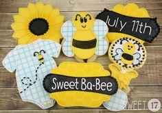 Baby Bee Sugar cookies Sweet17Cookies.Etsy.com