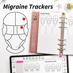 Photo by Planify Pro - Planner Program on August 28, 2021. May be an illustration of text that says 'MCRONZ Migraine Trackers o MIGRAINE TRACKER 900年 MON TUE 。 ( (日 Help? Type Recipe Code Find Tutorials Menu 30 DAY MIGRAINE TRACKER Style Pattes Palettes Outline Header Show Line Planner Mode Sticker Mode Random Pages 100% Expand Templates Search Texts Widgets pлR Layout'. #Regram via @CTT9Ts9L7eP Printable Letters, Printable Labels, Printable Planner, Planner Layout, Monthly Planner, Menu Planners, August 28, Planner Organization, Migraine