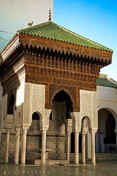 "Mosque and university Al-Qarawiyyin (Al-Karaouine), Fes www.feetupmagazine.com ""Put your feet up and let us do the legwork."""