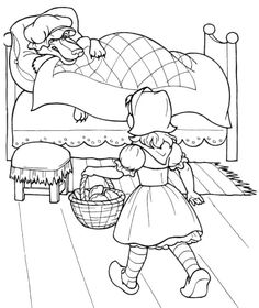 Little Red Riding Hood A Little Kid Coloring For Kids