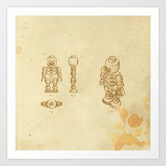 Lego Skeleton Art Print by William McDonald - $18.99