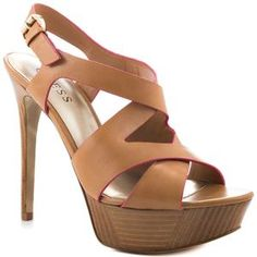 Guess Shoes Danten Light Natural Leather Women Shoes