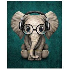 5D Little Elephant Diamond Painting Embroidery Diy Cross Stitch Craft Home Decor