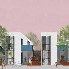 Resultado do Concurso CODHAB-DF de Projetos de Arquitetura para Habitação de Interesse Social,Grupo 1 - Primeiro lugar. Image Cortesia de CODHAB/DF