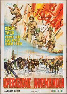 D-Day the Sixth of June (1956) Stars: Robert Taylor, Richard Todd, Dana Wynter, Edmond O'Brien ~ Director: Henry Koster (Italian Poster)