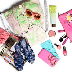 What #Essentials are in your bag today? #Accessories #Forever21 #Melissas #LoveAndBeauty #Sunnies