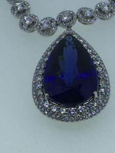 31ct tanzanite diamond neck let