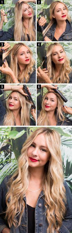 6 modi per fare i capelli mossi con una piastra per capelli lisci -cosmopolitan.it
