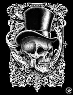 skull with tophat - Google Search