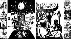 O jovem ilustrador Pedro Indio fez uma releitura das 22 tradicionais cartas de tarô (ou tarot) com a temática nordestina. E apresentamos em primeira mão!