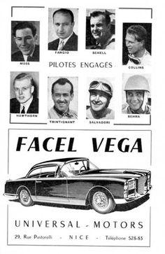 Facel Vega : Le Luxe Français - Le Cercle Modernist Vintage Ads, Vintage Posters, Automobile, Mustang Mach 1, Vegas, Citroen Ds, Automotive Art, Love Car, Bugatti