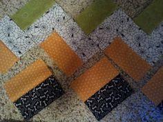 The Little Fabric Blog: Halloween Chevron Quilt Tutorial  Very nice easy pattern!!!!