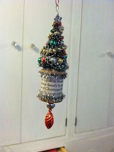 bottle brush tree ornament