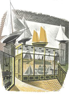 "Model Shop from ""High Street"" lithograph, 1938 // by Eric Ravilious"