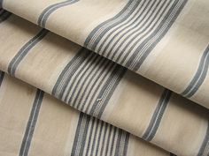 Antique French ticking fabric ~ intact mattress tick ~ lovely for French country interiors and rustic decor ~