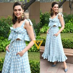 Deepika Padukone Style, Indian Designer Outfits, Beautiful Outfits, Casual Wear, Bollywood, Fashion Dresses, Cold Shoulder Dress, Two Piece Skirt Set, Summer Dresses