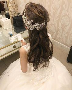 いろんなアレンジかき集め♡最近で一番可愛いと思った花嫁ヘアだけ厳選紹介♩ | marry[マリー] Korean Hairstyles Women, Asian Men Hairstyle, Japanese Hairstyles, Asian Hairstyles, Men Hairstyles, Asian Eye Makeup, Headpiece Jewelry, Asian Eyes, Wedding Looks