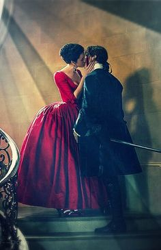 Outlander Season 2 Jamie and Claire Red dress