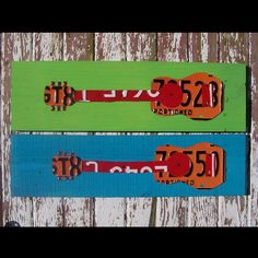 License Plate Art  Funky Music Guitar Rock and by recycledartco, $80.00