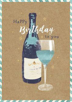 Claire Mcelfatrick - Birthday Wine Celebrate Male