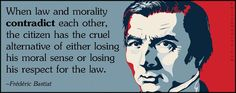 When law and morality contradict each other