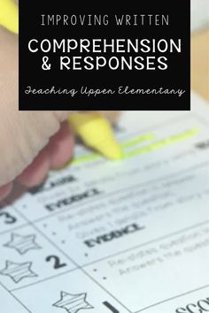 There are a few little things we can all do as teachers to help improve written comprehension and response! In the written response, students need to restate part of the question in their answer, answer all parts of the question, along with supporting details and text evidence as proof of their answer.