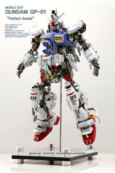 GUNDAM GUY: PG 1/60 Gundam GP01 [Open Hatch] - Custom Build