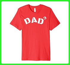 Mens Premium - Proud Dad - Dad^3 (Dad of Three) Shirt XL Red - Relatives and family shirts (*Amazon Partner-Link)