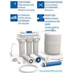 Sistema osmosi inversa con rubinetto e accumulo (senza pompa ed uv)