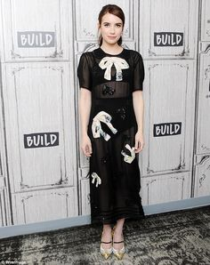 Gallivanting about town: Emma had swapped outfits by the time she headed over to Build Studio in the city later on Thursday to plug the film on BUILD Series