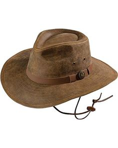 ac9fb9e4ef9 Outback Trading Co Men s Co. Kodiak Leather Hat Brown X-Large   Want  additional