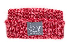 Red and White Speckled Cuffed Beanie – Love Your Melon