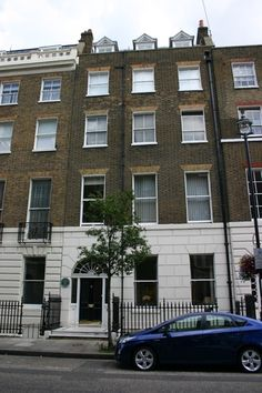 Sir Arthur Conan Doyle's house, 2 Upper Wimpole Street, London. He was still trying to practice medicine here while writing