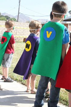 super hero capes- maybe for a superhero themed photo shoot?