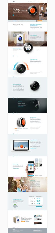#Nest Thermostat made simple and beautiful #UI #Design