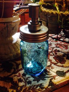 Vintage style Mason Jar w/pump.. Http://stores.ebay.com/Christines-silver-and-more