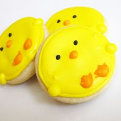 Easter Mini Chick Cookies by thePieceDeResistance on Etsy, $18.00