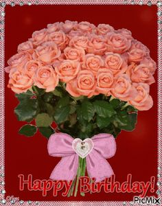 Top 10 Beautiful Happy Birthday Quotes, Images And Animations Happy Birthday Flowers Gif, Happy Birthday Wishes Sister, Happy Birthday Celebration, Happy Birthday Fun, Happy Birthday Quotes, Happy Birthday Images, Happy Birthday Greetings, Beautiful Flowers Wallpapers, Beautiful Rose Flowers