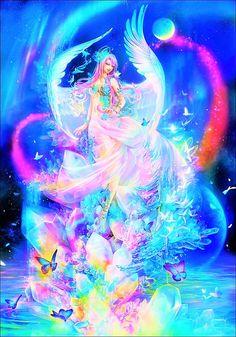 Fantasy with Rainbow Colours of Rainbow God. ❤