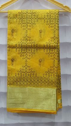 Here is the latest kota sarees collection. Spectacular color combo of Kota half tissue with satin pattu borde.