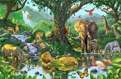 Nature's Harmony via MuralsYourWay.com